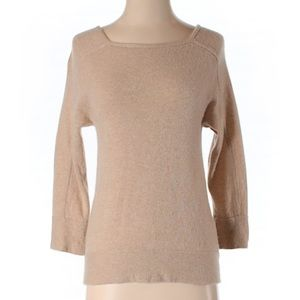 J Crew 100% cashmere tan sweater